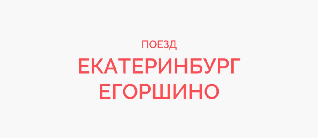 Поезд Екатеринбург - Егоршино