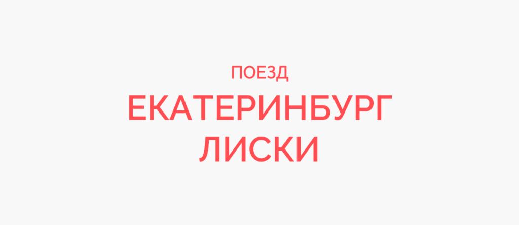 Поезд Екатеринбург - Лиски